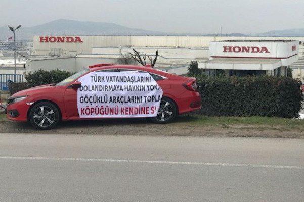 Honda Türkiye Fabrikası önünde Göçük Protestosu Autocar